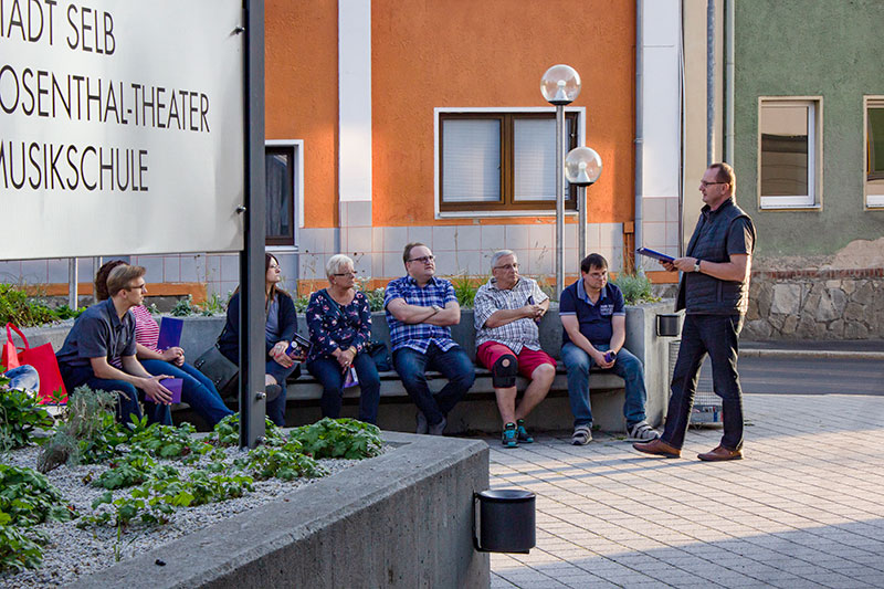 Erster Parkplatzinfotreff SPD Selb